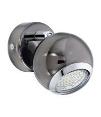 Spot  1 Lumière BIMEDA Acier Nickel Chrome GU10 1x3W - EGLO
