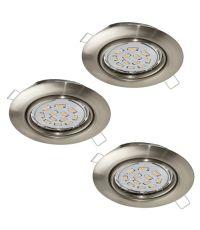 Lot de 3 spots orientables LED à encastrer Peneto EGLO