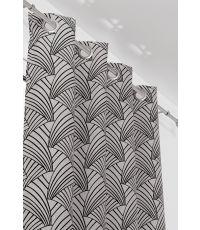 Rideau à oeillets ARDECO 135x250 cm Noir