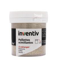 Paillettes scintillantes sable 30 g - INVENTIV