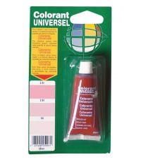 Colorant universel pour peinture coloris rouge vif 25 ml