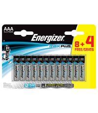 Pile alcaline AAA LR03 Max Plus - 1,5V - 8 + 4 gratuites - ENERGIZER