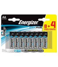 Pile alcaline AA LR6 Max Plus - 1,5V - 8 + 4 gratuites - ENERGIZER