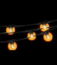 Guirlande lumineuse noire - 5m - 10 ampoules filaments - XANLITE