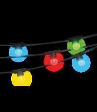 Guirlande lumineuse noire 5 m - 10 ampoules multicolores - XANLITE