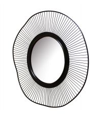 Miroir métal rond noir 80 cm - ARIANE