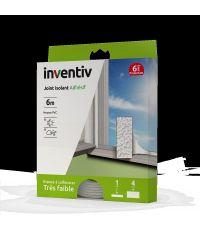 Joint isolant adhésif mousse PVC blanc de 1-4mm en 6m - INVENTIV