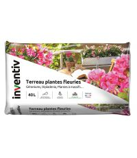 Terreau plantes fleuries 40L - INVENTIV