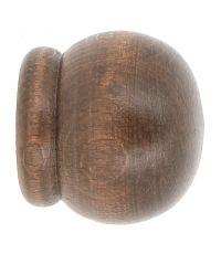 Embout de barre à rideaux anglais Ø28 à emboîter chêne foncé