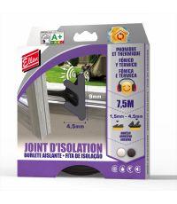 Joint isolation adhésif phonique/thermique 7,5m blanc - ELLEN