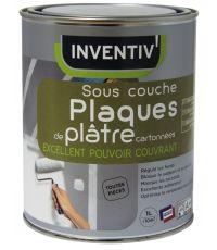 Sous-couche Plaques de plâtre très opacifiant INVENTIV 1L