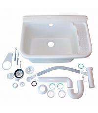 Bac à laver évier intérieur/extérieur 60L polypropylène 59×39×27cm - INTERPLAST