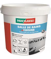 Colle carrelage en pâte de salle de bain & cuisine 3kg - PAREXLANKO