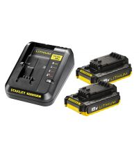 Starter kit batteries 2 x 2Ah - STANLEY FATMAX