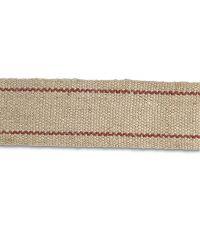 Sangle beige rayée rouge (vendu au mètre) - CHAPUIS