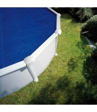 Bâche de protection été pour piscine acier Ø5.50 m - 180µ - GRE