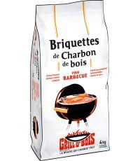 briquettes de charbon de bois  4kg - GRILL O'BOIS