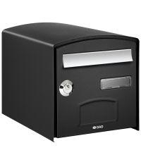 Boîte aux lettres dôme 1 porte normalisée noir - DECAYEUX