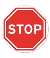 """Disque de signalisation """"stop"""" - CHAPUIS"""