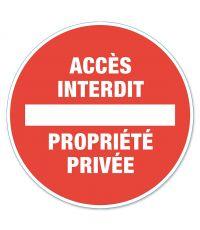 """Disque de signalisation """"propriété privée"""" - CHAPUIS"""