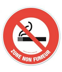 "Disque de signalisation ""zone non fumeur"" - CHAPUIS"