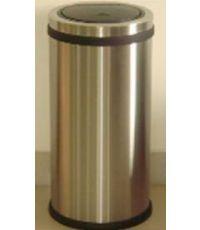poubelle de cuisine touch inox brillant 30 litres