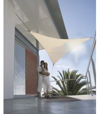 Voile d'ombrage triangulaire serenity 3.60 m - sable - JARDILINE