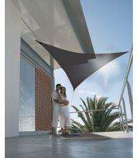 Voile d'ombrage triangulaire serenity 3.60m - noir - JARDILINE