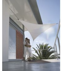 """Voile d'ombrage triangulaire 5 m. gamme """"Serenity"""" - taupe - JARDILINE"""