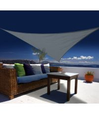 "Voile d'ombrage triangulaire 3.60 m - gamme ""austral"" ardoise - JARDILINE"