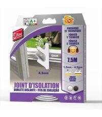 Joint isolation adhésif phonique/thermique 7,5m noir - ELLEN