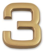 """Chiffre doré adhésif """"3"""" - CHAPUIS"""
