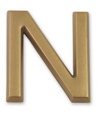 """Lettre dorée adhésive """"n"""" - CHAPUIS"""