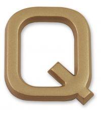 """Lettre dorée adhésive """"q"""" - CHAPUIS"""