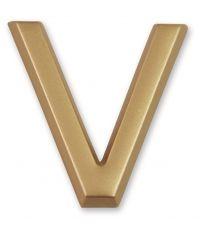 """Lettre dorée adhésive """"v"""" - CHAPUIS"""