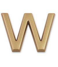 """Lettre dorée adhésive """"w"""" - CHAPUIS"""