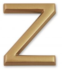 """Lettre dorée adhésive """"z"""" - CHAPUIS"""