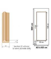 Décoration pour porte d'intérieur en bois exotique - SKYLAB