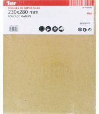 10 Feuilles de papier silex 230x280mm gr 40