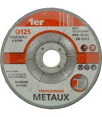 Disque tronçonner les métaux Ø125 - 1ER