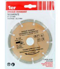 Disque diamant couronne segmentée Ø125mm - 1ER