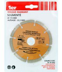 Disque diamant couronne segmentée Ø115mm - 1ER