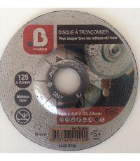 Disque à tronçonner pour meuleuse - métaux et inox 125x2,5mm - B POWER