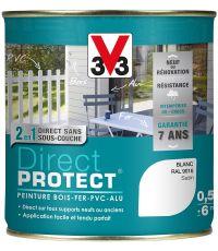 Peinture multi-supports direct protect satin 0.5 l blanc - V33