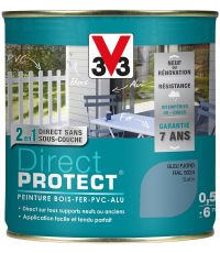 Peinture multi-supports direct protect satin 0.5L bleu fjord - V33