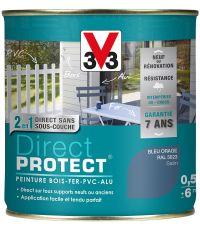 peinture multi-supports direct protect satin 0.5 l bleu orage - V33