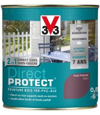 Peinture multi-supports direct protect satin 0.5L figue fraiche - V33