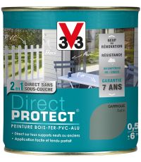 Peinture multi-supports direct protect satin 0.5 l garrigue - V33