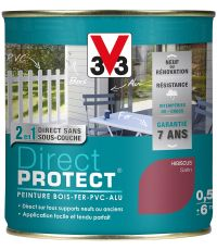 Peinture multi-supports direct protect satin 0.5L hibiscus - V33