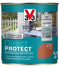 Peinture multi-supports direct protect satin 0.5L paprika - V33
